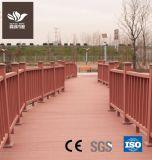 Outdoor WPC balustrade de clôture de composite de bois en plastique