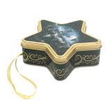 Envases de cinco estrellas tin box para Navidad