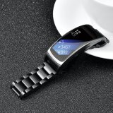 Luxury Metal Men Women Watch Wrist Replacement, Stainless Steel Three- Link Watch Band for Fit2