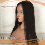 Couleur marron 100 % perruque de cheveux humains avant de la Dentelle (PPG-L-0395)
