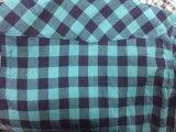 Het Overhemd van de hoogste Kwaliteit! Het dubbele Overhemd van de Mensen van de Stof van het Weefsel, het Katoen van 100%, 2 die Zakken met Klep met Lichaam wordt aangepast