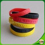 Kundenspezifische Sport-Silikonwristband-Armbänder mit geprägtem Firmenzeichen