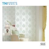 El papel pintado decorativo interior cómodo de la fibra de poliester de Eco cubrió a tarjeta acústica para el panel de pared