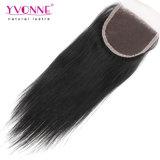Precio de fábrica Yvonne Virgen brasileño Cierre superior recto de cabello humano.