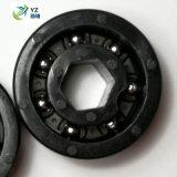 Billes à gorge profonde roulements céramiques de roulement en plastique de l'acier oxyde noir