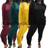 Der Frauen lösen beiläufige Taschen-Überbrückungsdraht-Schaufel-breite Bein-lange Hülsen-Overalls Esg10453