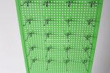 La condizione libera 2 ha parteggiato cremagliera di visualizzazione di Pegboard degli ami del materiale del metallo