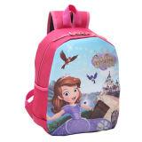美しい女の子のバックパックの肩の小さい漫画はランドセルをからかう
