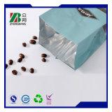 Sacchetto impaccante di alluminio della parte inferiore piana del caffè a chiusura lampo del con la valvola