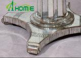 La moderna de plata con Cristal mesa de comedor redonda
