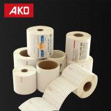 Doublure enduite Stikcer auto-adhésif de Rolls Pet/BOPP de papier d'art d'OEM de coutume