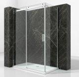 浴室アルミニウムは8mm強くされたガラスシャワー室を組み立てた