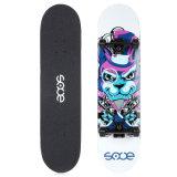 "Skate Pontapé Duplo Rabo Cheio Maple feitas 28.5*7.5"" Sooe Sc04-3"