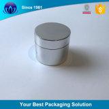 Vaso crema cosmetico di vetro caldo di vendita 50g con la protezione di alluminio d'argento per cura di pelle
