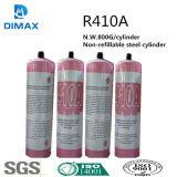 De Freon van het Gas R410A van het koelmiddel in Klein kan (650g, 5KG, 11.3KG enz.)