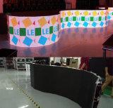 풀 컬러 옥외 실내 임대료 LED 영상 벽 편평한 구부려진 전시 P3 P4 P5 P6