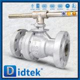 Didtek 2 parties flottant le robinet à tournant sphérique de Wcb