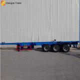 2 Flachbett-Behälter-Transport-halb Schlussteil der Wellen-40ft