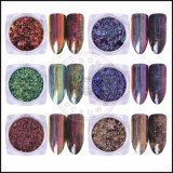 Magic Chrome Pigment holographique pour ongles, Pigment Rainbow Laser