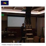 Высокое качество железный корпус проекционного экрана/плоскую поверхность под действием электропривода экран проектора для отеля/домашний кинотеатр HD