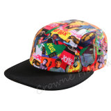 A forma dianteira do Pinch Sublimated o tampão da cópia do verão do chapéu do Snapback