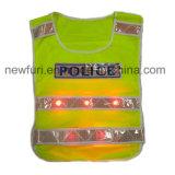 Maglia riflettente gialla infiammante lavorata a maglia poliestere di En471 100% LED