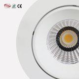 ホテルの照明2700Kは切り取られる白い防眩デザイン調節可能な穂軸Downlights 7W 9W 12W 83mmを暖める