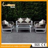 Do pátio ajustado de alumínio do sofá de Polywood do pó de metal da HOME/hotel mobília ao ar livre de pulverização do jardim