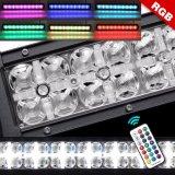 7D DRL RGB de 2 filas de 22 pulgadas LED de 4X4 Offroad de barra de luz, de 24 voltios de 12V 4X4 resistente al agua de la barra de luz LED