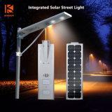 30W 40W LED esterno integrato/tutto in un'indicatore luminoso di via/lampada solari con la batteria LiFePO4