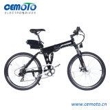 يطوي [متب] درّاجة كهربائيّة مع [شوك بسربر] مزدوجة