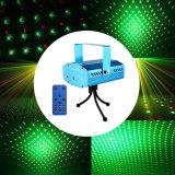 Iluminación verde de la etapa del disco del laser de la estrella de la Navidad