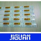 Comercio al por mayor de productos farmacéuticos impermeables etiqueta personalizada Vial