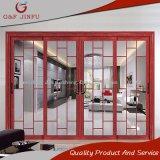 Fabricante dobro de alumínio gama alta da porta deslizante de vidro Tempered