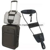 Пояс планки багажа, регулируемый пояс носит чемодан багажа перемещения планки мешка на поставке перемещения Bungee (черном) Esg10287