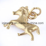 Encanto do cavalo com anel do círculo para a jóia de DIY