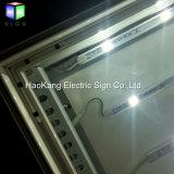Tissu de DEL annonçant le cadre de tableau de signes pour le panneau de cadre léger de signe de bureau