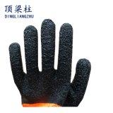 13 Anzeigeinstrument-Polyester-Sicherheits-Handschuh mit 3/4 Windung-Latex beschichtet