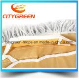 Lavette de poussière lavable de vente chaude de Cutton de tête de lavette de coton de nettoyage d'étage