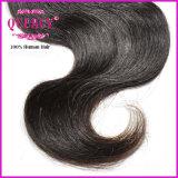 部分ボディ波のインドのバージンのRemyの中間の毛の絹の上のレースの閉鎖(CL-020)