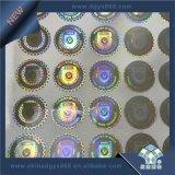 Arco iris de color personalizada etiqueta holograma DOT Matrix.