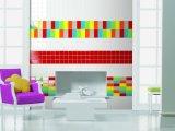 Gules 4X12inch/10X30cm glasierte glatte keramische Wand-Untergrundbahn-Fliese-Badezimmer-/Küche-Dekoration