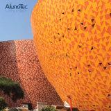 ألومنيوم واجهة لوح جدار [كلدّينغ] في صنع وفقا لطلب الزّبون شكل