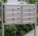 Квартира с почтового ящика из нержавеющей стали для монтажа в стойку 3 поля