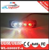 branco vermelho da luz da cabeça da luz de advertência do diodo emissor de luz 4W