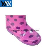 Linda chica de inyección de PVC impermeable zapatos calzado botas de lluvia