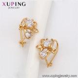 91587 Basisrecheneinheits-kupferne einfache würdevolle Goldband-Ohrring-Entwürfe für Frauen