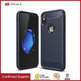 Caso molle del coperchio TPU del telefono delle cellule della fibra del carbonio per il iPhone 8 casi