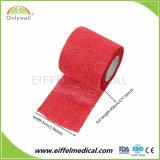 Coton Non-Woven AUTO BANDAGE cohésif Fabricant adhérentes