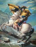 アルプスを交差させている有名な油絵ナポレオンの再生